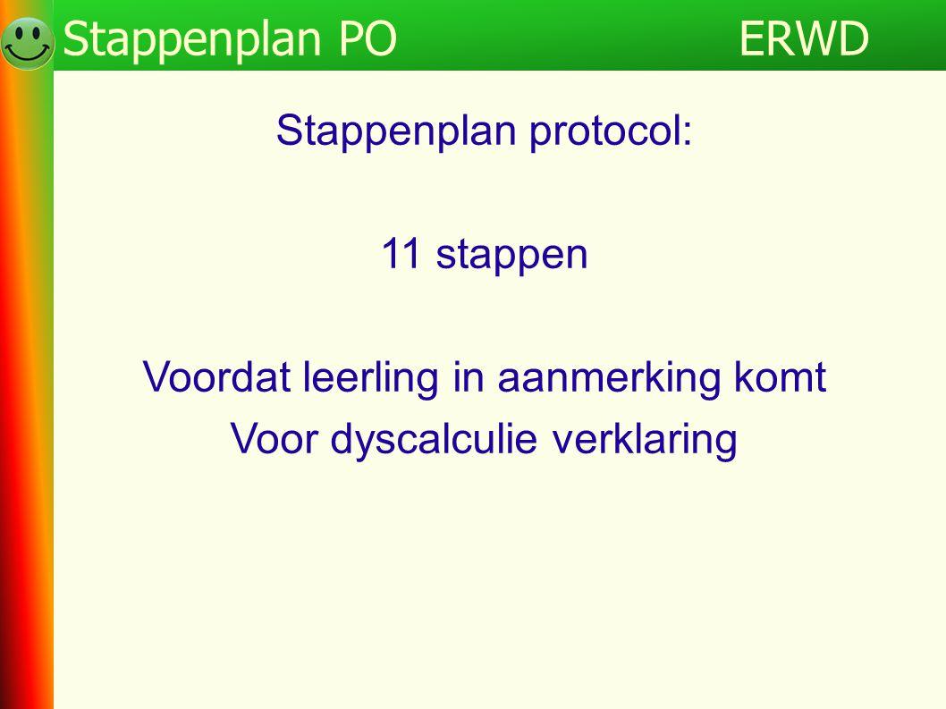 ERWD Stappenplan PO Programma ERWD Stappenplan protocol: 11 stappen