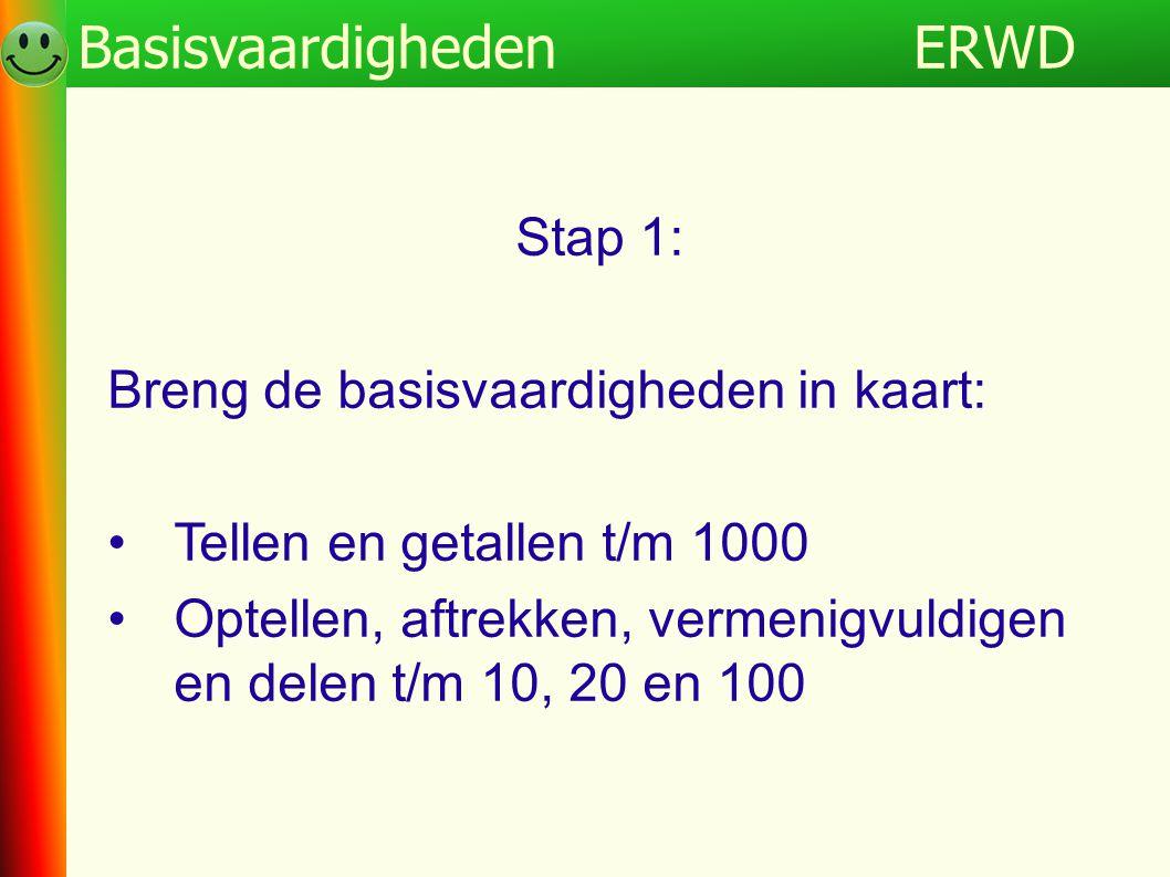 ERWD Basisvaardigheden Programma ERWD Stap 1: