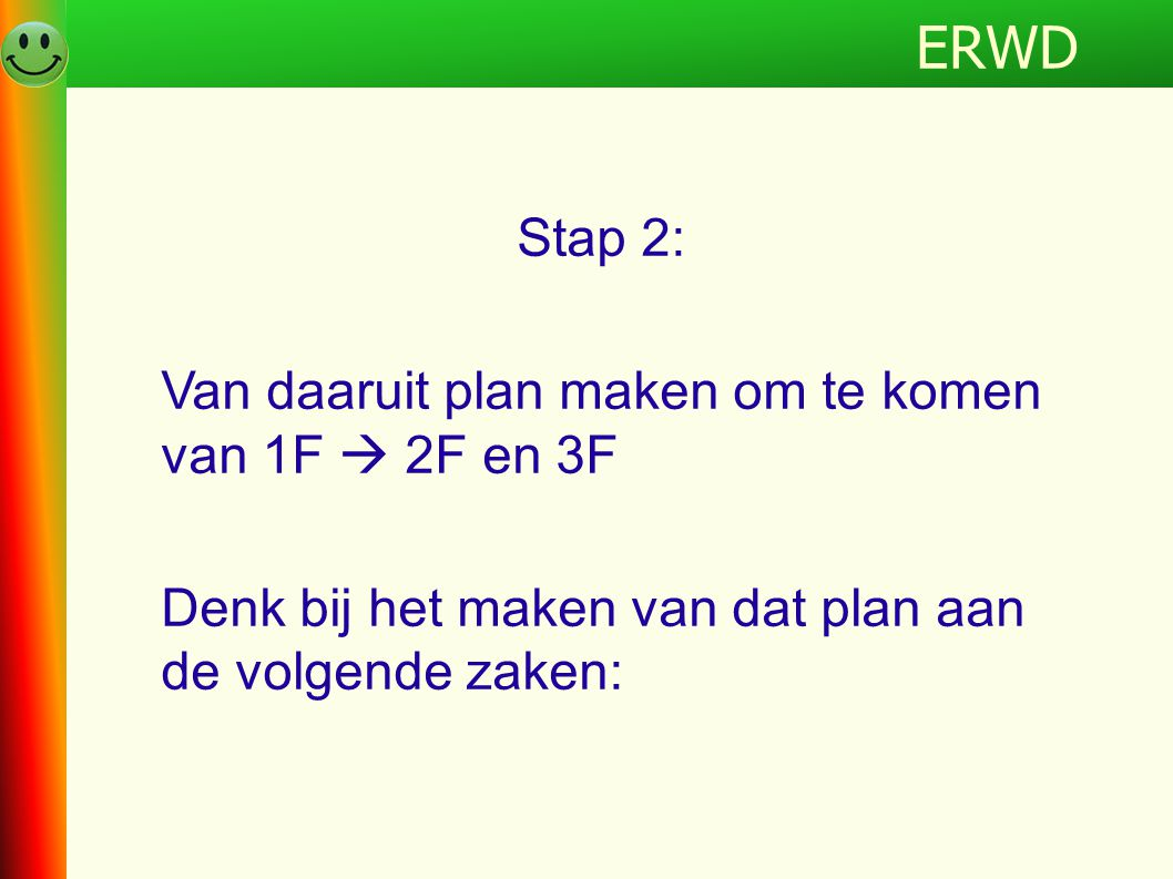 ERWD Programma ERWD Stap 2: