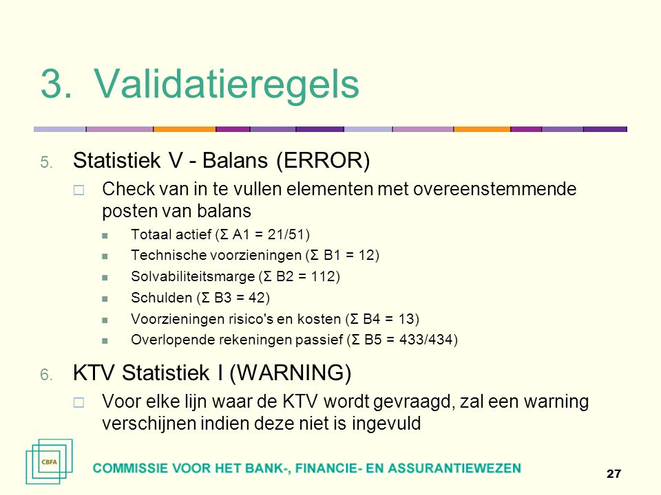 Validatieregels Statistiek V - Balans (ERROR)
