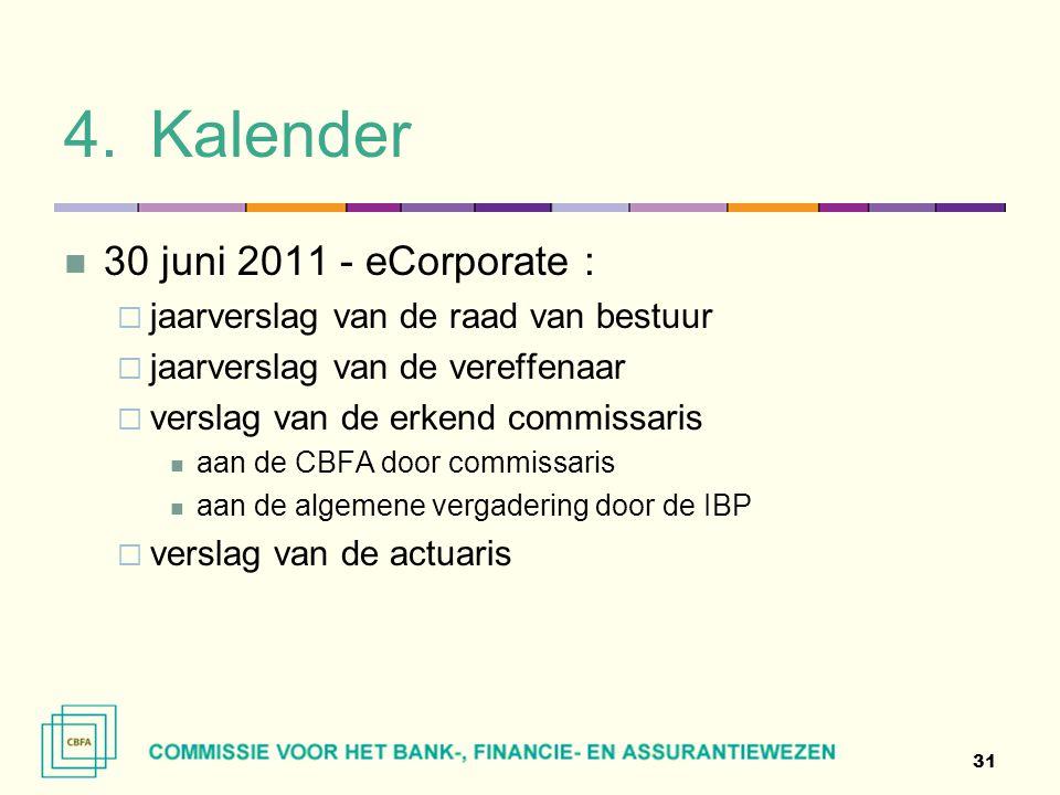 Kalender 30 juni 2011 - eCorporate :