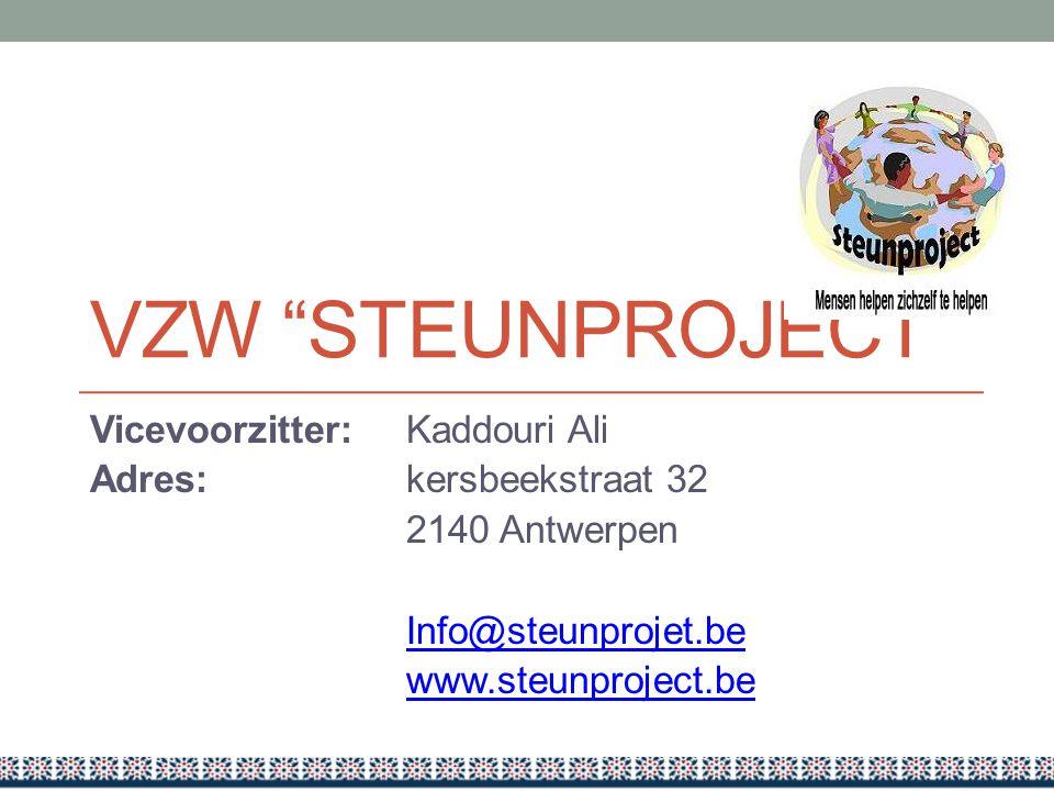 VZW Steunproject Vicevoorzitter: Kaddouri Ali