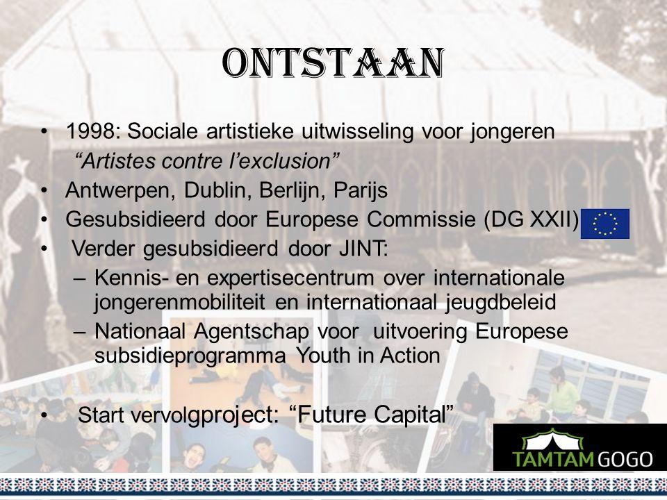 Ontstaan 1998: Sociale artistieke uitwisseling voor jongeren