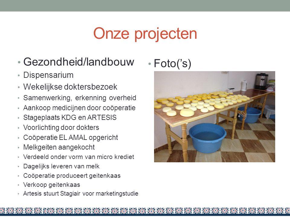 Onze projecten Gezondheid/landbouw Foto('s) Dispensarium