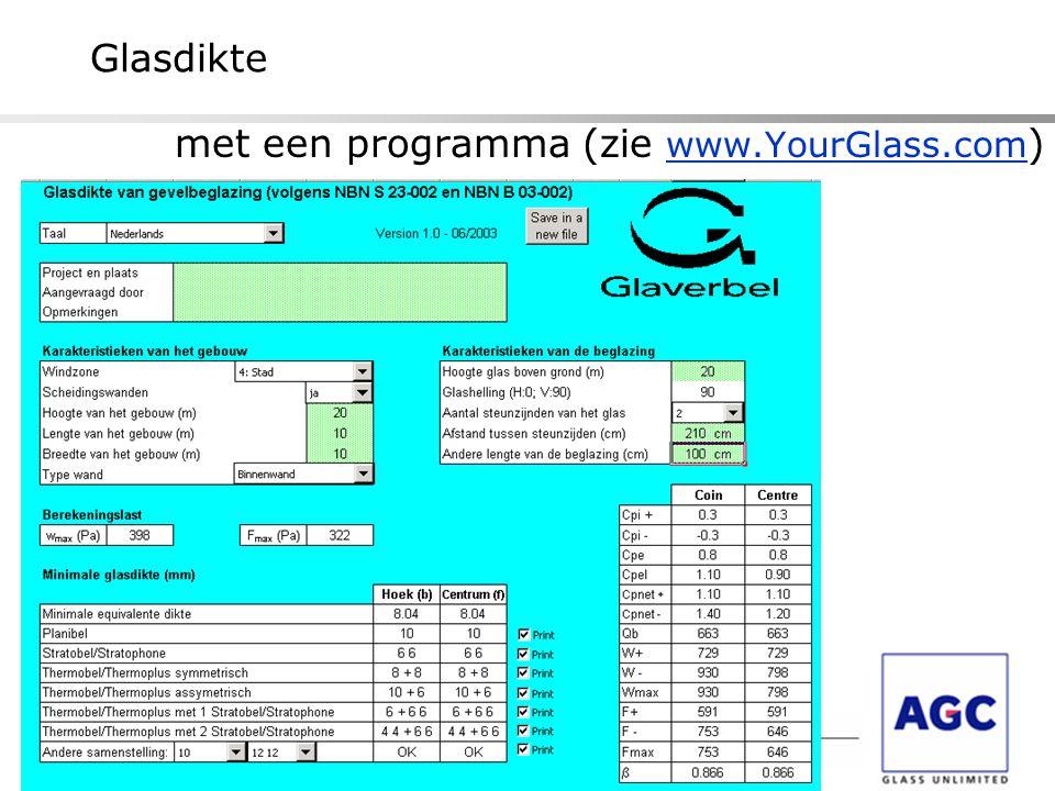 met een programma (zie www.YourGlass.com)