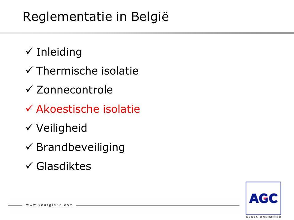 Reglementatie in België
