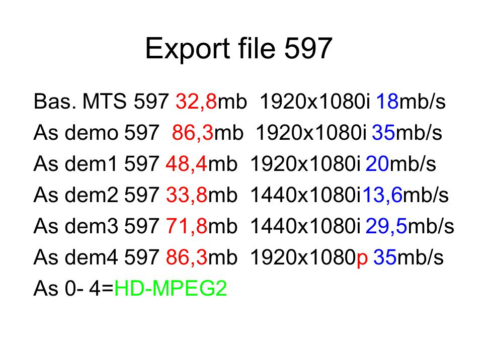 Export file 597 Bas. MTS 597 32,8mb 1920x1080i 18mb/s
