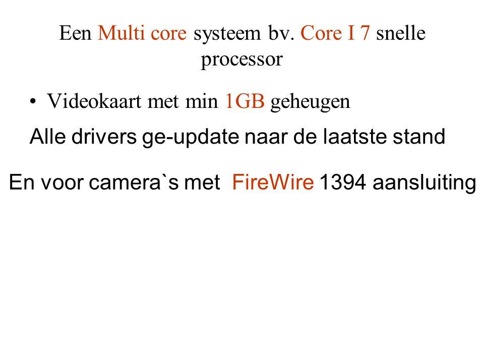 Een Multi core systeem bv. Core I 7 snelle processor