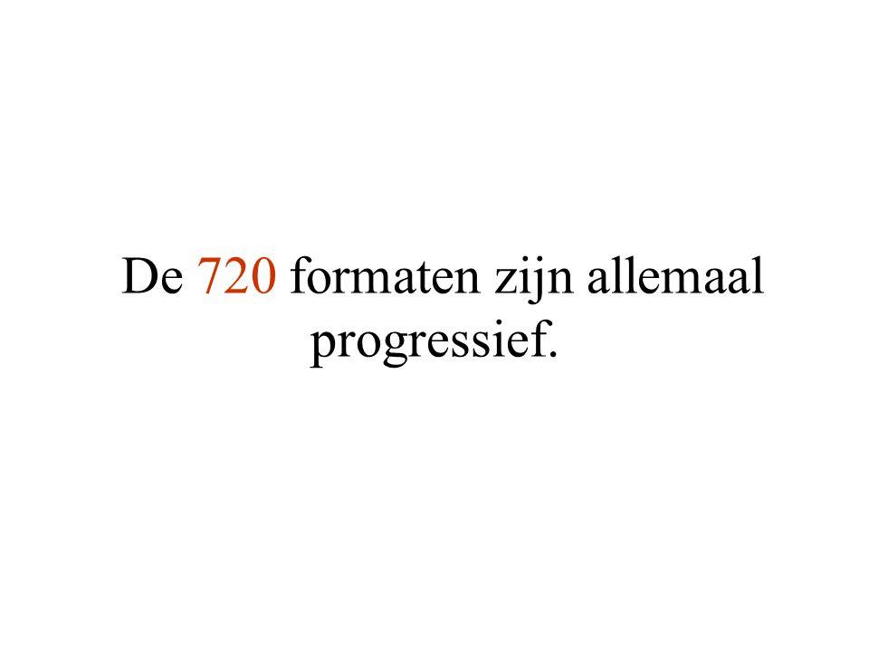 De 720 formaten zijn allemaal progressief.