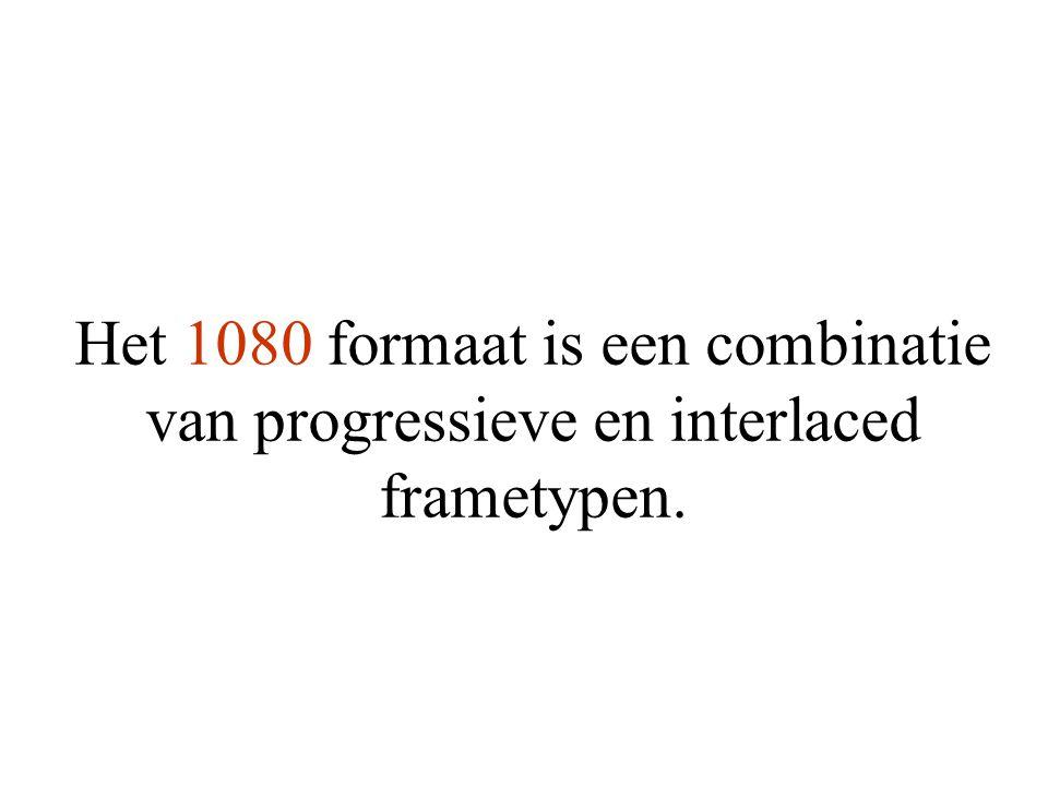 Het 1080 formaat is een combinatie van progressieve en interlaced frametypen.