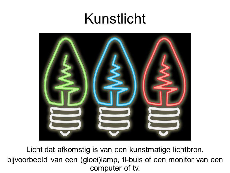 Licht dat afkomstig is van een kunstmatige lichtbron,