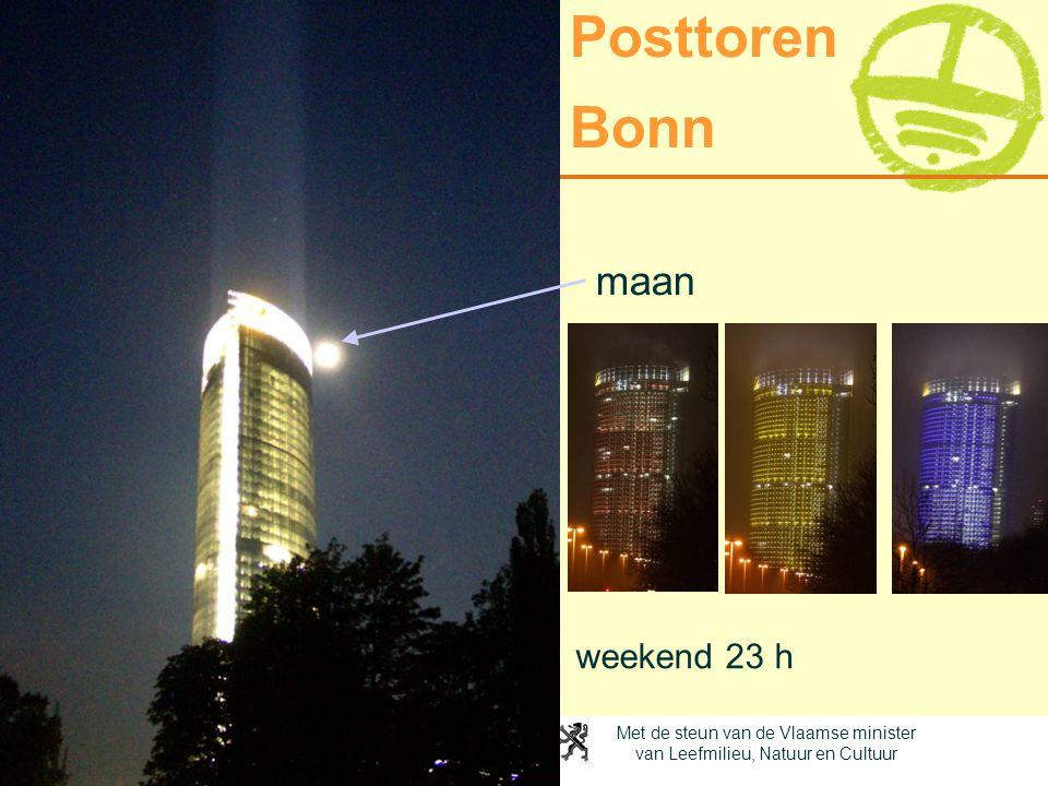 Posttoren Bonn maan weekend 23 h