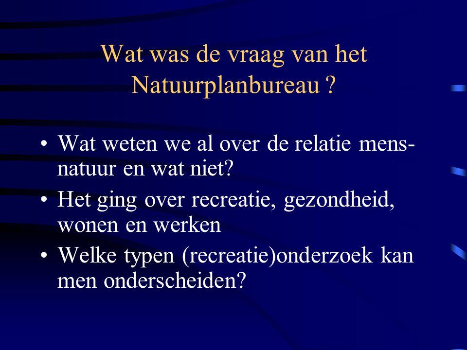 Wat was de vraag van het Natuurplanbureau
