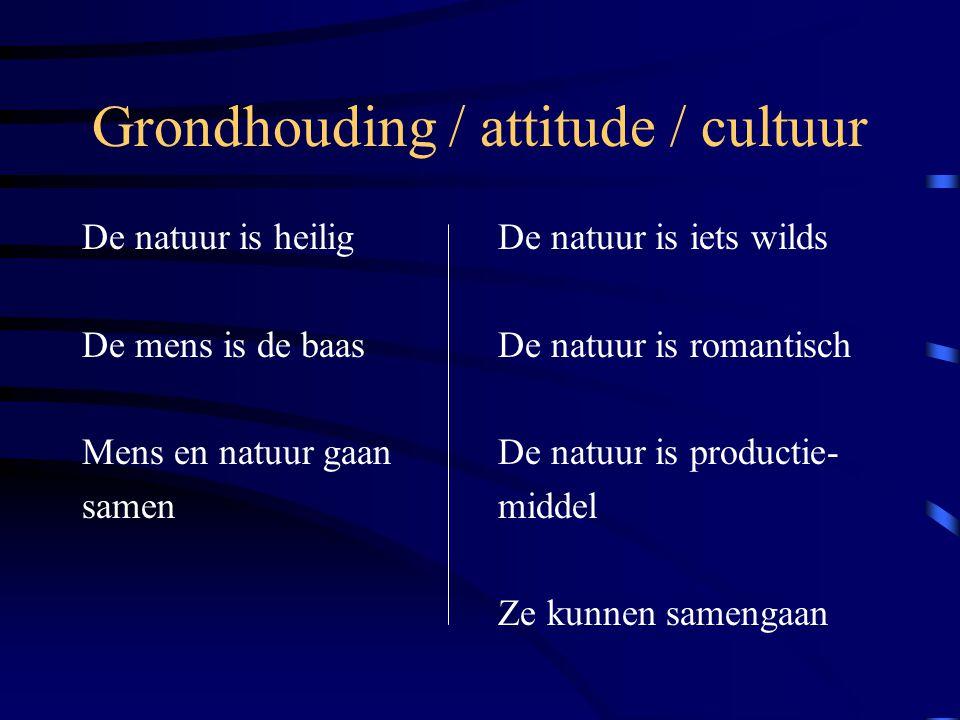 Grondhouding / attitude / cultuur