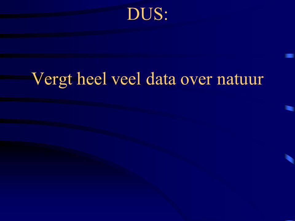 DUS: Vergt heel veel data over natuur