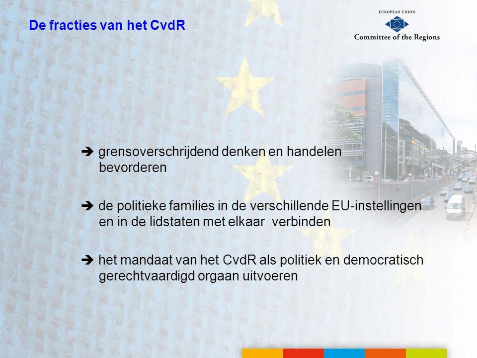 De fracties van het CvdR