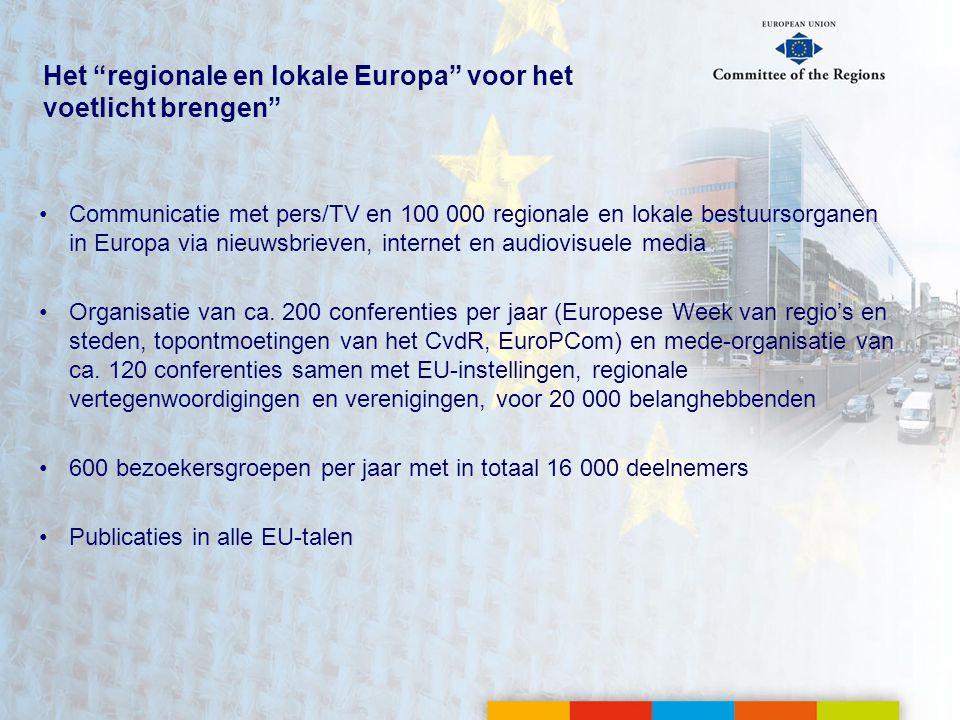 Het regionale en lokale Europa voor het voetlicht brengen