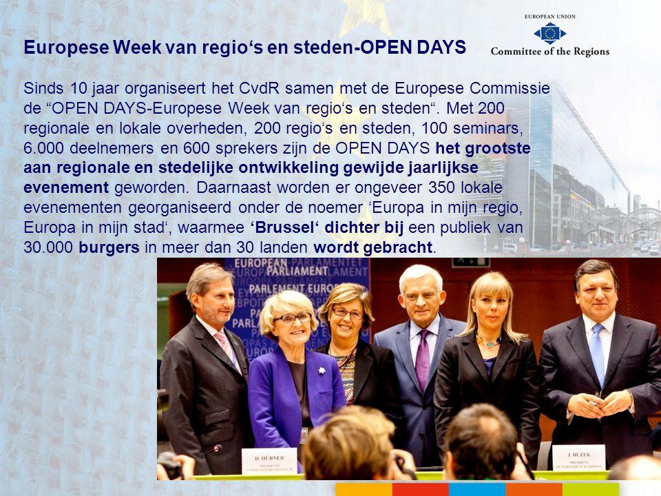 Europese Week van regio's en steden-OPEN DAYS