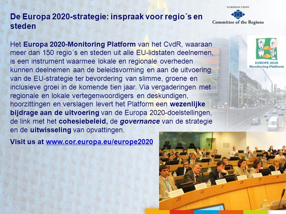 De Europa 2020-strategie: inspraak voor regio´s en steden