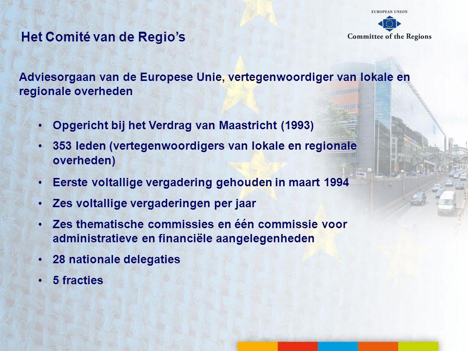 Het Comité van de Regio's