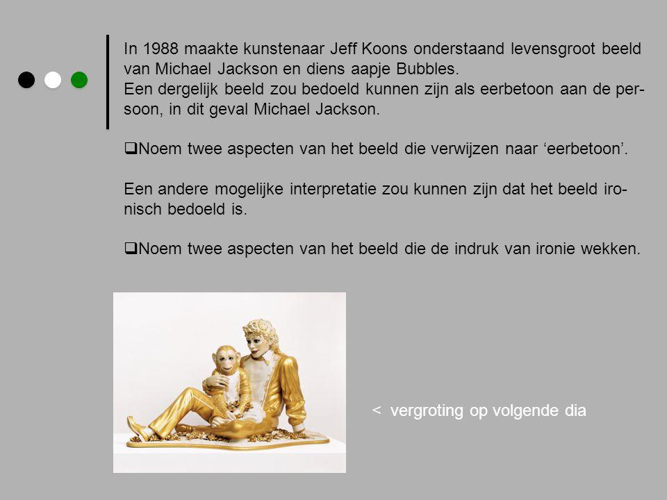 In 1988 maakte kunstenaar Jeff Koons onderstaand levensgroot beeld