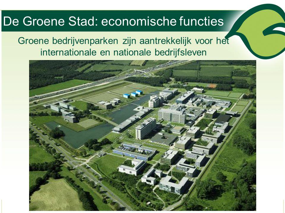 De Groene Stad: economische functies