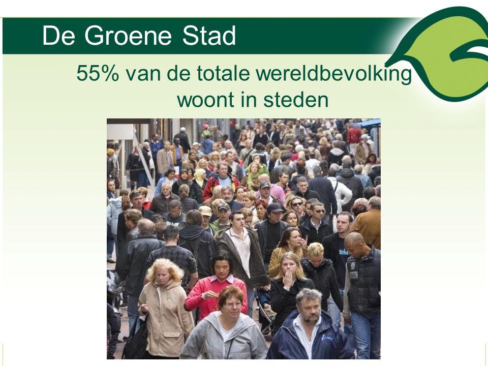 55% van de totale wereldbevolking woont in steden