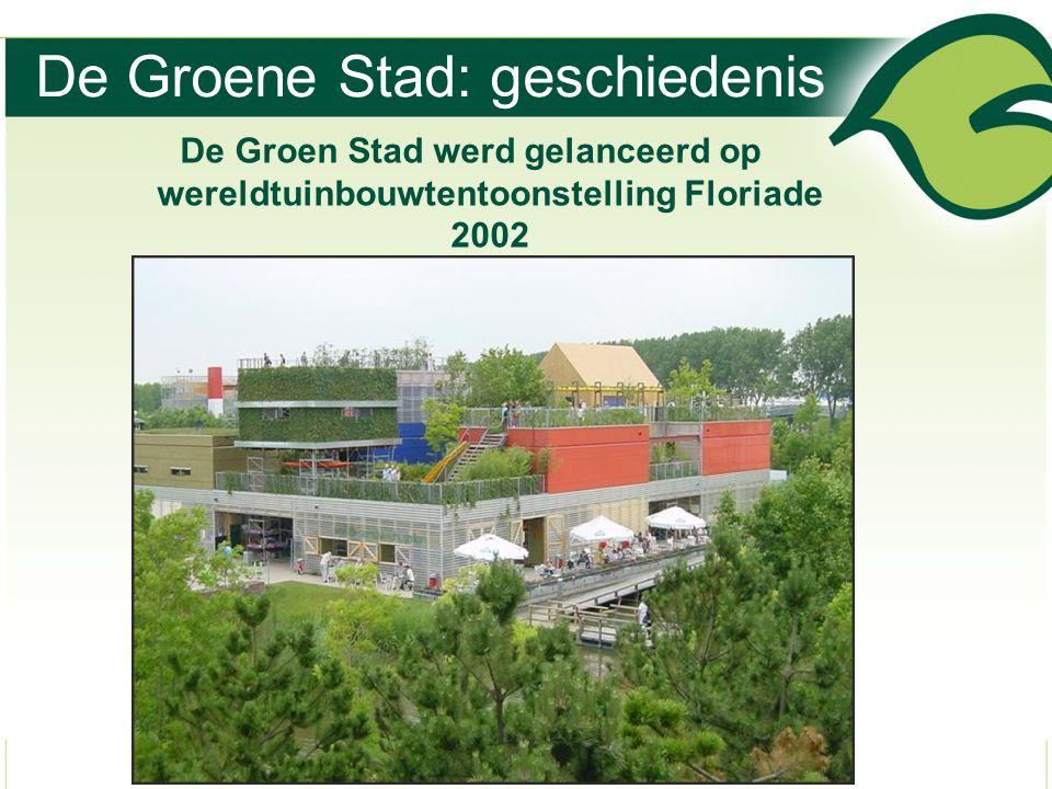 De Groene Stad: geschiedenis