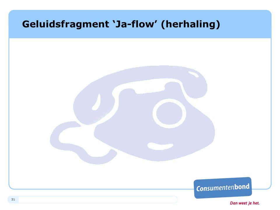 Geluidsfragment 'Ja-flow' (herhaling)