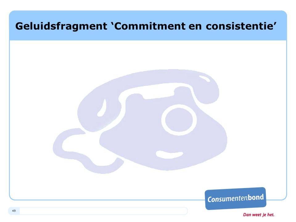 Geluidsfragment 'Commitment en consistentie'