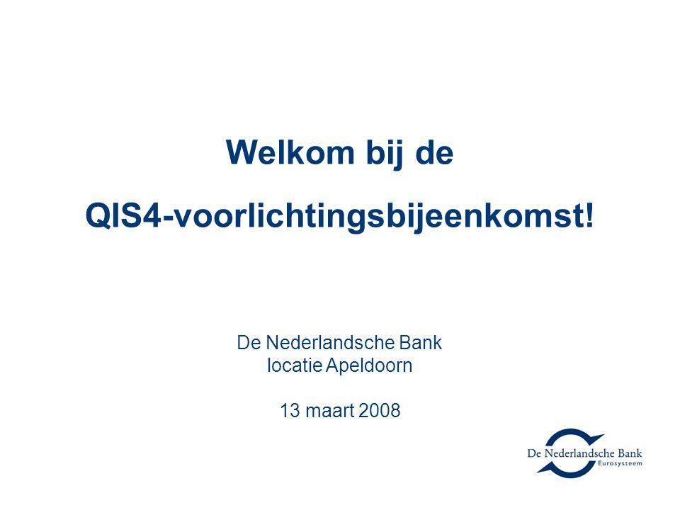 Welkom bij de QIS4-voorlichtingsbijeenkomst!