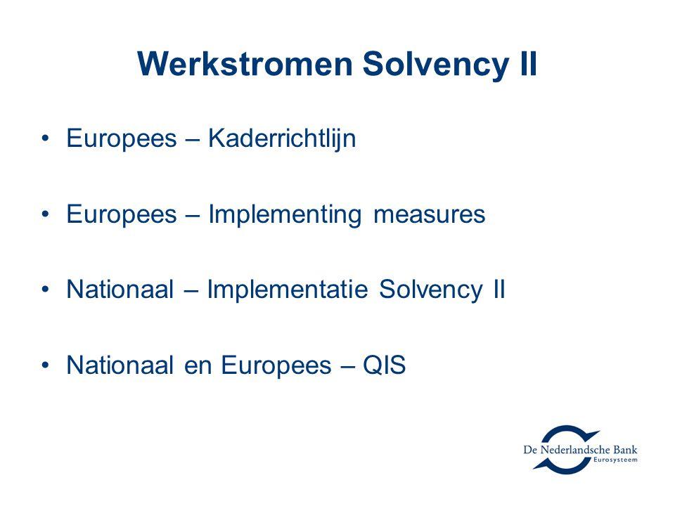 Werkstromen Solvency II