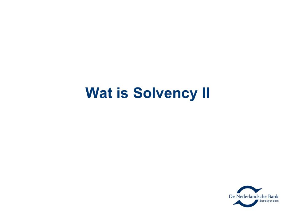 Wat is Solvency II
