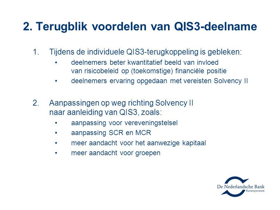 2. Terugblik voordelen van QIS3-deelname