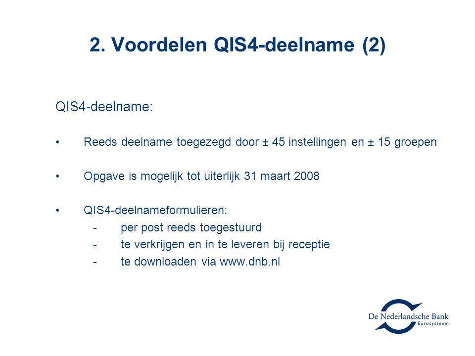 2. Voordelen QIS4-deelname (2)