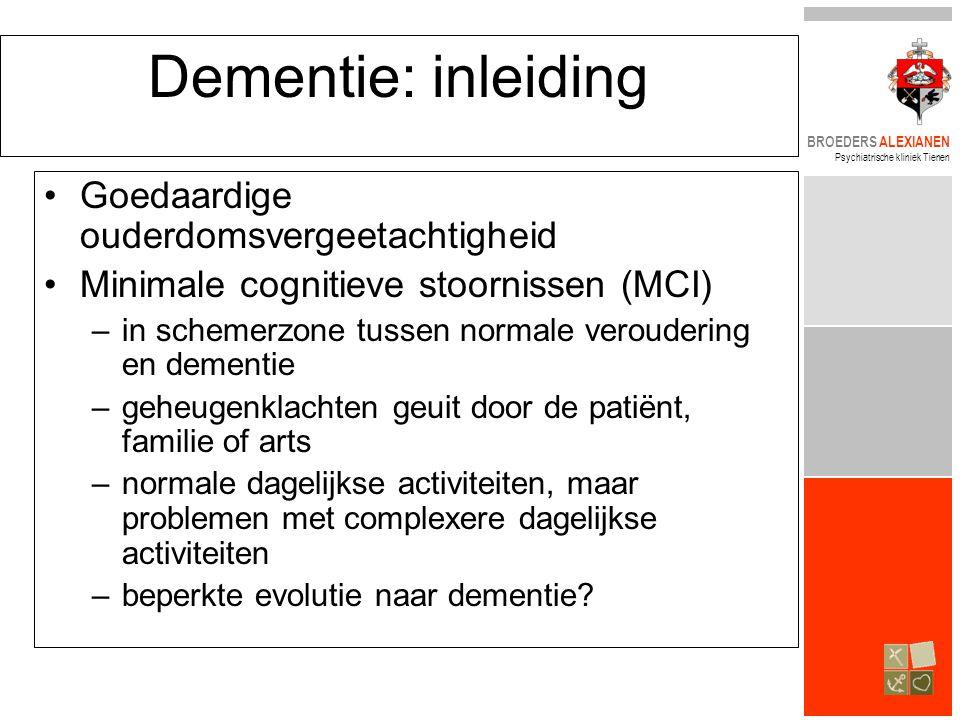Dementie: inleiding Goedaardige ouderdomsvergeetachtigheid