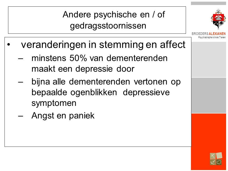 Andere psychische en / of gedragsstoornissen