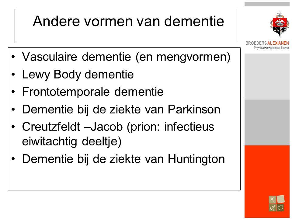 Andere vormen van dementie