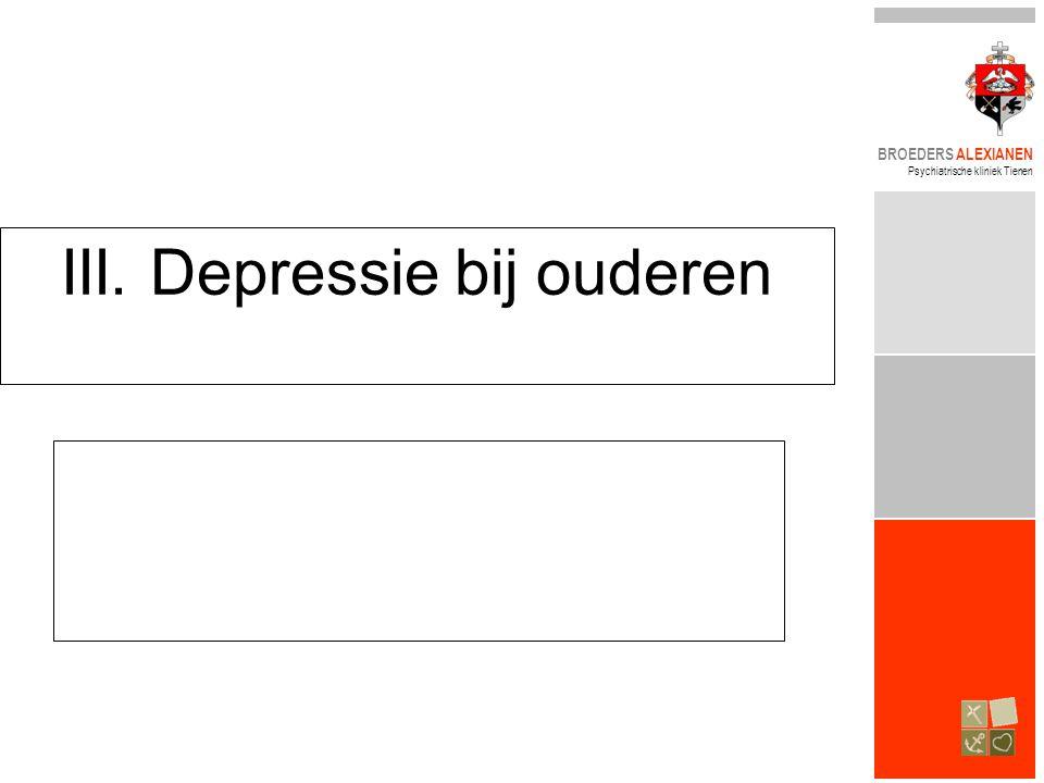 III. Depressie bij ouderen