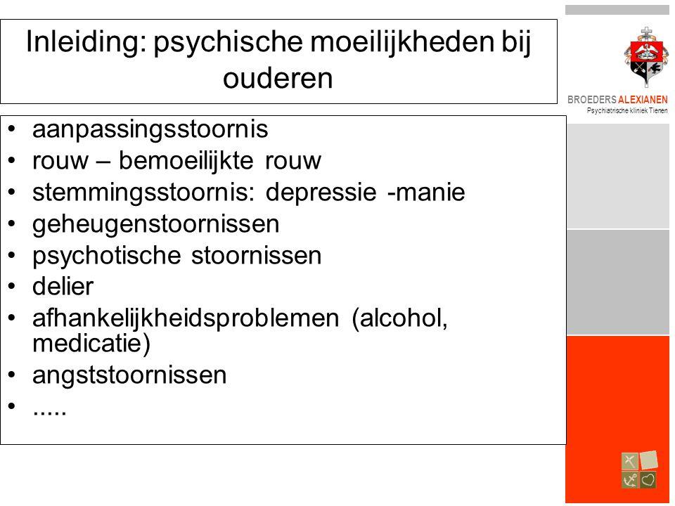 Inleiding: psychische moeilijkheden bij ouderen