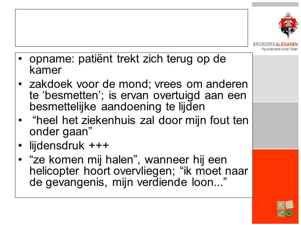 opname: patiënt trekt zich terug op de kamer