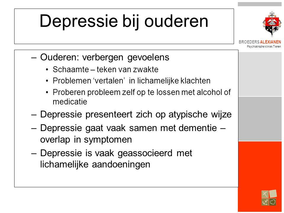Depressie bij ouderen Ouderen: verbergen gevoelens