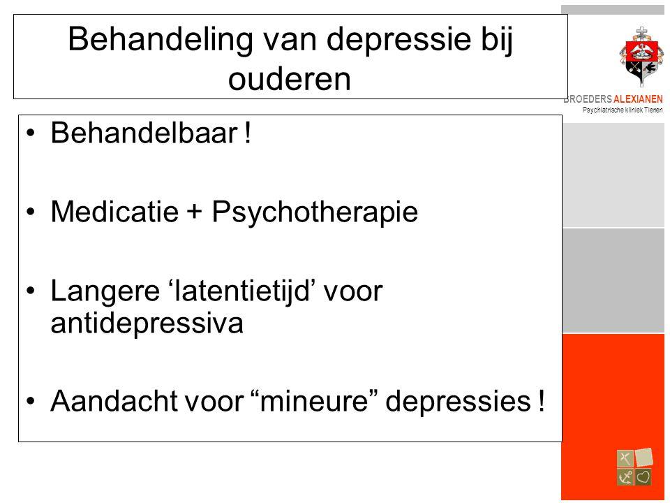 Behandeling van depressie bij ouderen
