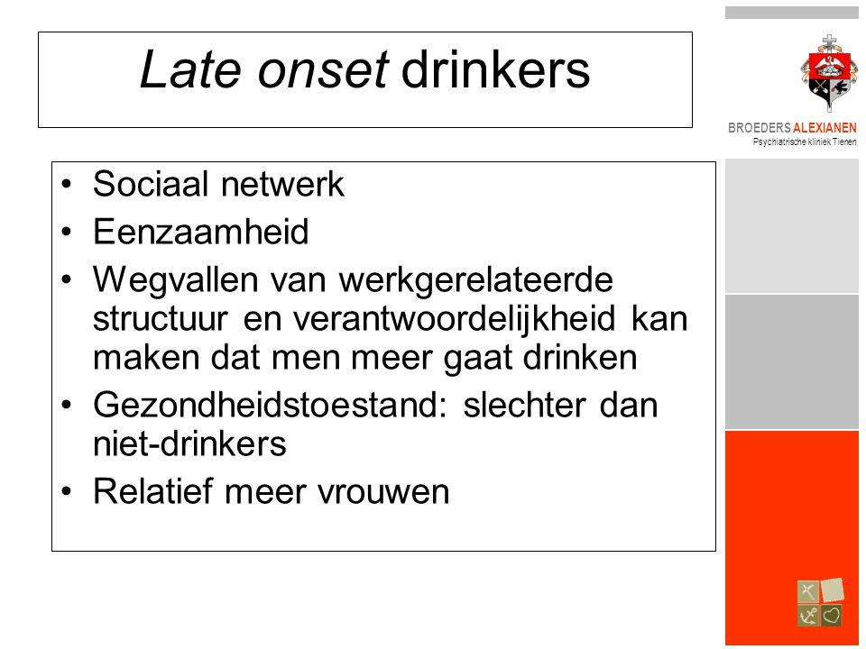 Late onset drinkers Sociaal netwerk Eenzaamheid