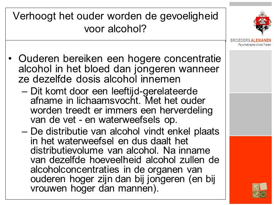 Verhoogt het ouder worden de gevoeligheid voor alcohol