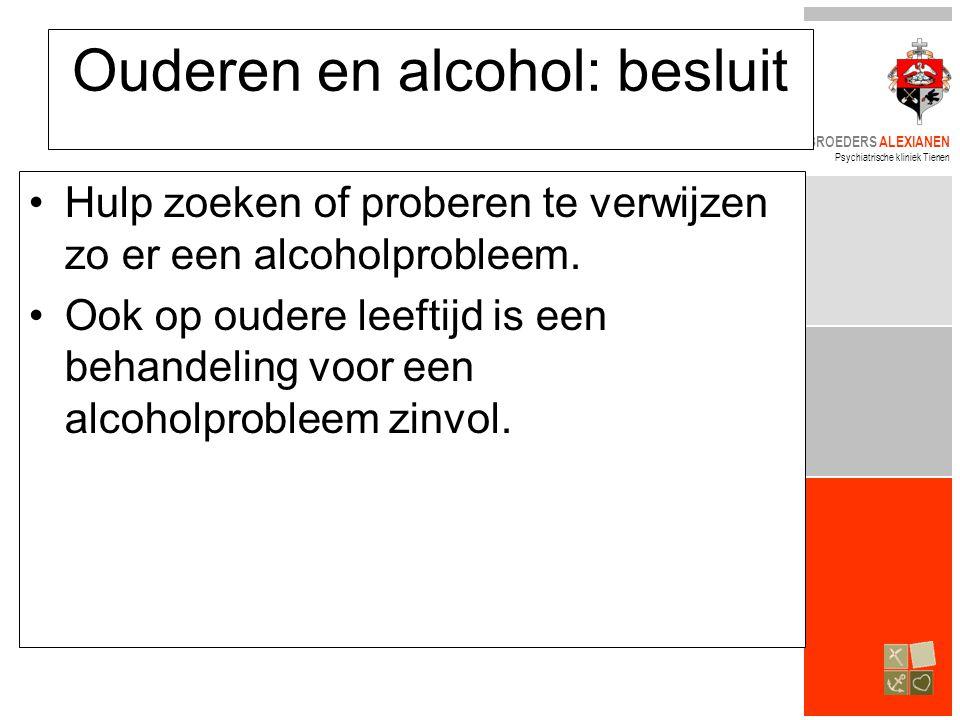 Ouderen en alcohol: besluit