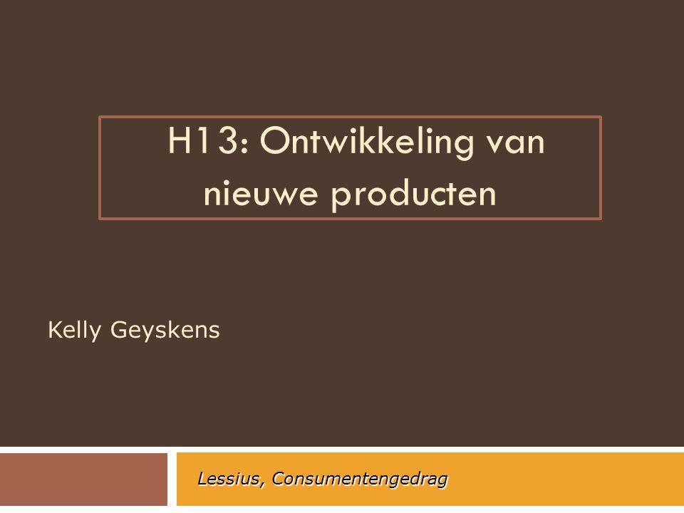 H13: Ontwikkeling van nieuwe producten