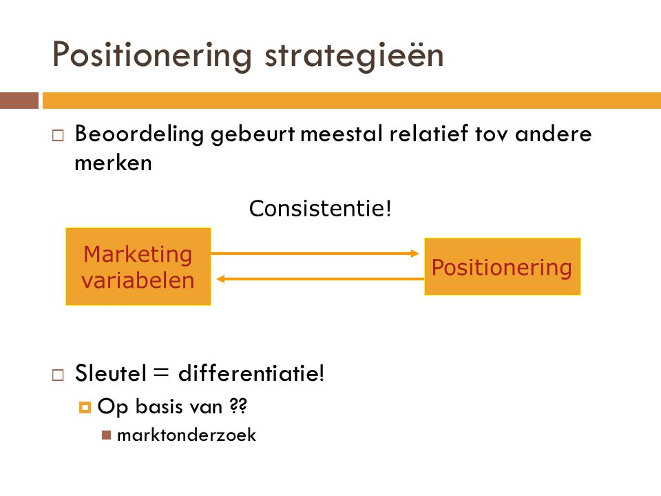 Positionering strategieën