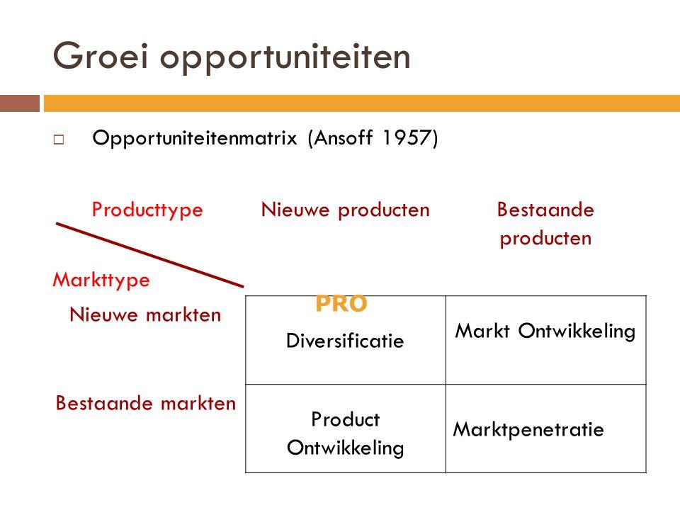 Groei opportuniteiten