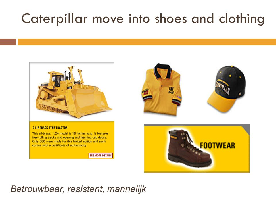 Caterpillar move into shoes and clothing